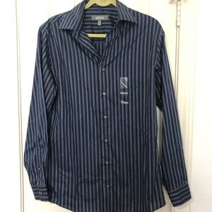 NWOT! Kenneth Cole Reaction Pinstriped Button Down